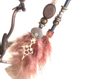 Tribal Feather Earrings - Aether Nomad designer range Steamhippy Tribal Steampunk