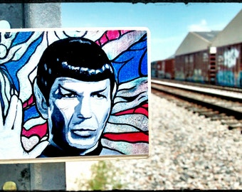 Digital print on wood with magnet on back.