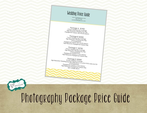 photography price guide wedding photography price guide