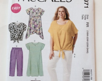 McCall's Easy M6971 Sewing Pattern Plus-Size