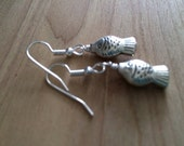 Pewter Fish Earrings