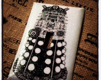 Dr. Who, Dalek monster light-switch plate