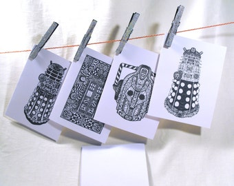 Dr. Who inspired greeting cards