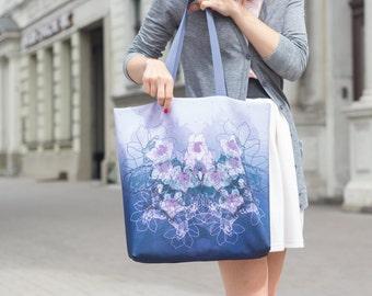 Orchid - printed tote bag