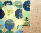 Colorful Placemats, Set of 2 Mini Placemats, Asian Inspired Green Tea Cups