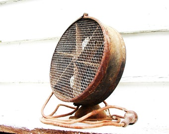 Vintage Old Heater Rusty Gold From the Barn