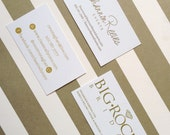 Custom Gold Foil Business Cards Reorder