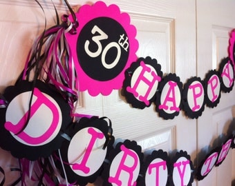30th birthday decorations personalization available by for 30th birthday party decoration
