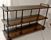 """Industrial Iron and Wood TV Stand for 46"""" to 52"""" TVs"""
