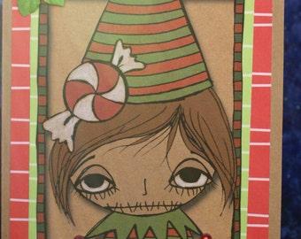 Handmade goth Christmas card