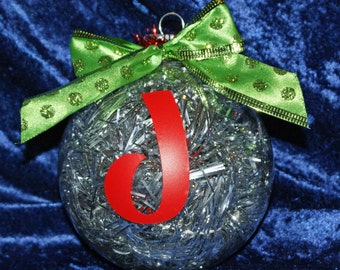 Custom Monogrammed Christmas ornament