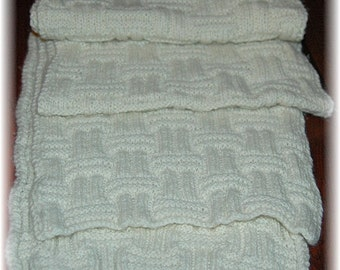 """Cashmere Scarf for Men """"Pender Island"""" - hand knit in pure Cashmere - ideal gift for him for any occasion!"""