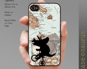 Tricycleceratops in San Francisco iPhone Case for iPhone 6, iPhone 5/5s, or iPhone 4/4s, Samsung Galaxy S6, Galaxy S5, Galaxy S4, Galaxy S3