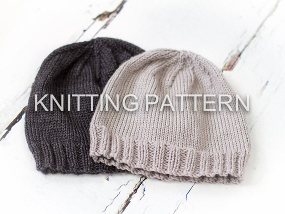 Knitting Pattern Classic Aran Beanie Hat by ...