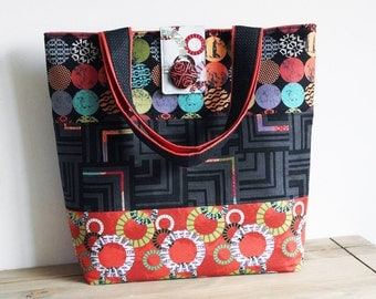 Tote Bag Sewing Pattern PN502 Uptown Tote Bag