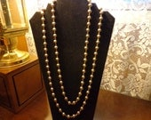 Vintage goldtone single strand bead necklace - Made in Germany