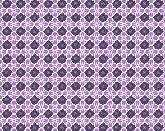 Clover Grape - Maude Asbury -  Blend Fabrics.  1/2 Yard Cut