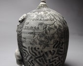 Clay Sculpture Pod Hand Carved The Impermanence of Things