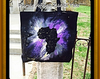 Purple Africa ZURi Tote Bag