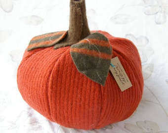 Recycled Sweater Pumpkin