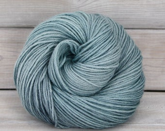 Vega - Hand Dyed Alpaca Merino Wool Silk Worsted Yarn - Colorway: Harbor
