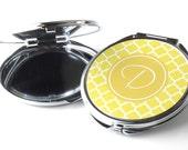 Personalised Compact Mirror - Pocket Mirror - Quatrefoil P02