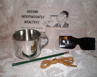 Gag Gift Become Independently Wealthy, Millionaire Business Kit, 1961 Leister, Retirement Gift
