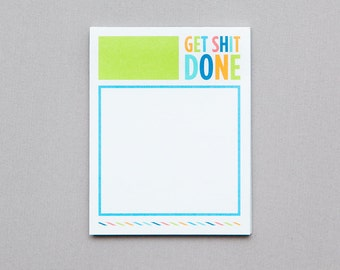 Small Get S*** Done Note Pad