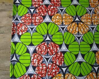 African wax print fabric, Dutch wax print fabric, Ankara wax print fabric, Java wax print - ONE yard of pure cotton wax print batik fabric