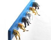 Safari Animal Tails Coat Rack (any color)