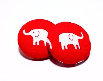 Medium Delta Sigma Theta Elephant Button Earrings
