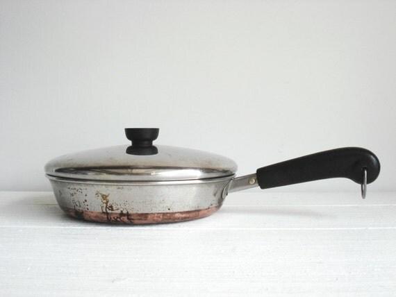 Vintage Copper Bottom Revere Ware Medium By