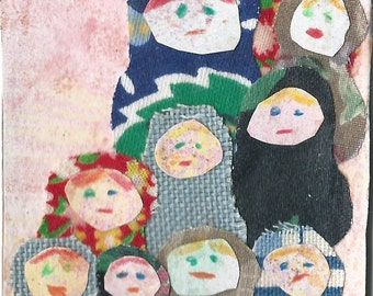 Original ACEO Collage - My Big Family