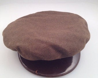 Vintage ww 2 hat made by society brand hat co.