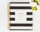 ALREADY AUTHENTIC Day Designer - JANUARY 2014 - 2015 Black Stripe - Yearly Planner & Daily Agenda, Calendar, Organizer