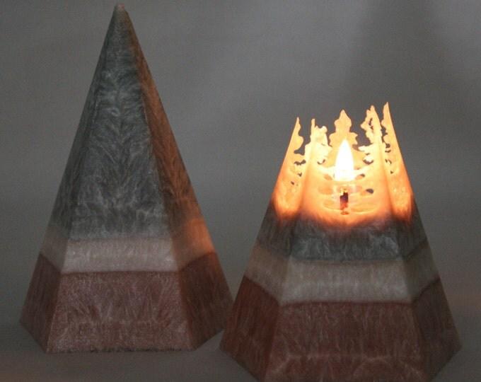 Vegan Wax Pyramid Candle- 25 hour burn time