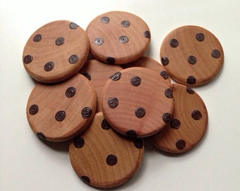 Chocolate Chip Cookies/Wooden Play Food/Gifts Under 15/Pretend Kitchen/Wooden Toys/Gifts for Kids/Birthday Gift/Prop