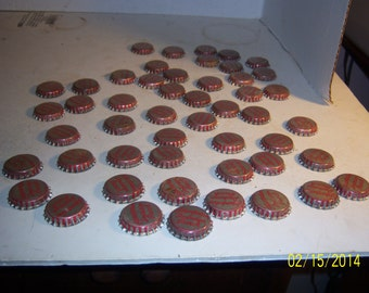 1950's Lot of 50  New Old stock Unused Plantation Punch Hyco Bottling Co Fall River, Mass cork lined  bottle caps crafts Decoration wedding