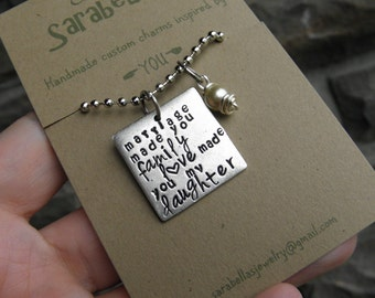 Daughter in Law Necklace, Daughter in law quote