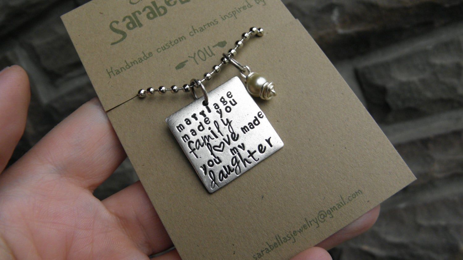 Future Mother In Law Gifts: Daughter In Law Necklace Daughter In Law Quote