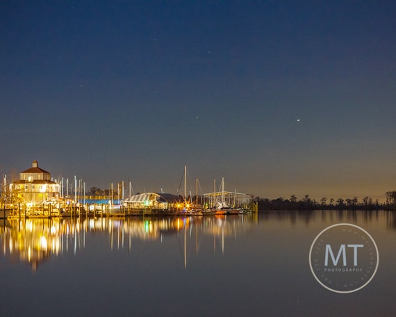 Tchefuncte River at Night in Madisonville, LA