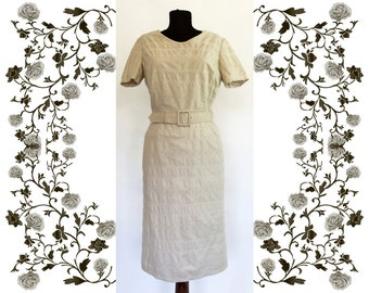 1950's Vintage Deadstock NOS Embroidered Cotton Dress