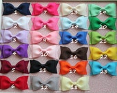 Girls hair bows - set of 24 -toddler, little girls hair bows - Tuxedo hair bows -  Birthday gift - 1.00 hair bows  - You can choose colors