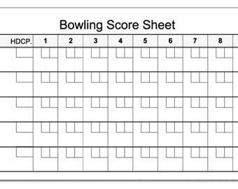 Bowling Score Pad 3.5