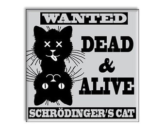 Funny Clean Dirty Dishwasher Magnet Schrodinger's Cat Alive & Dead