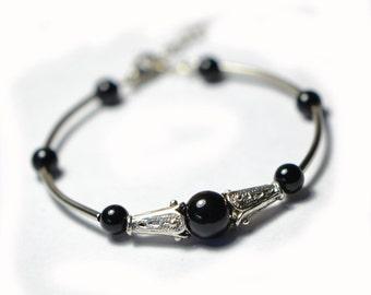 MiaoYin black bead bracelet