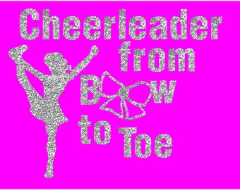 Cheer Iron on applique, Glitter Iron On  transfers. Made to order iron on's