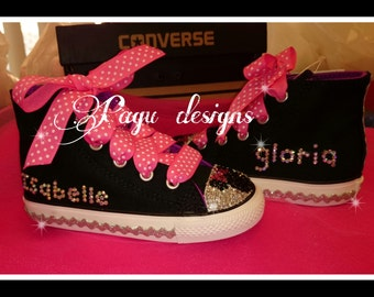 Minnie Mouse converse shoes personalized