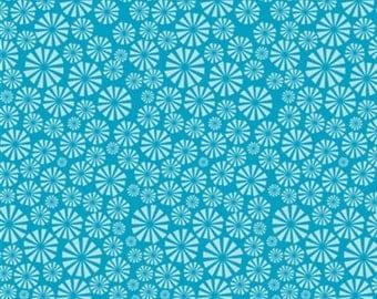 Marine Too Urchin Forest Daylight by Jay Cyn Designs for Birch Organics in Teal 1 Yard Cut