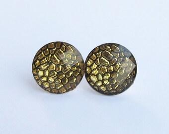 Gold Bubble  Earrings